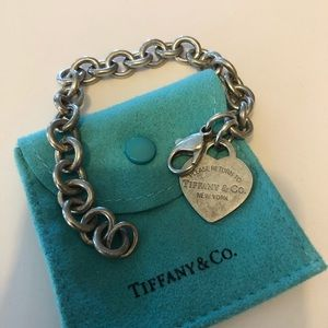Tiffany & Co. Retired Heart Charm Bracelet